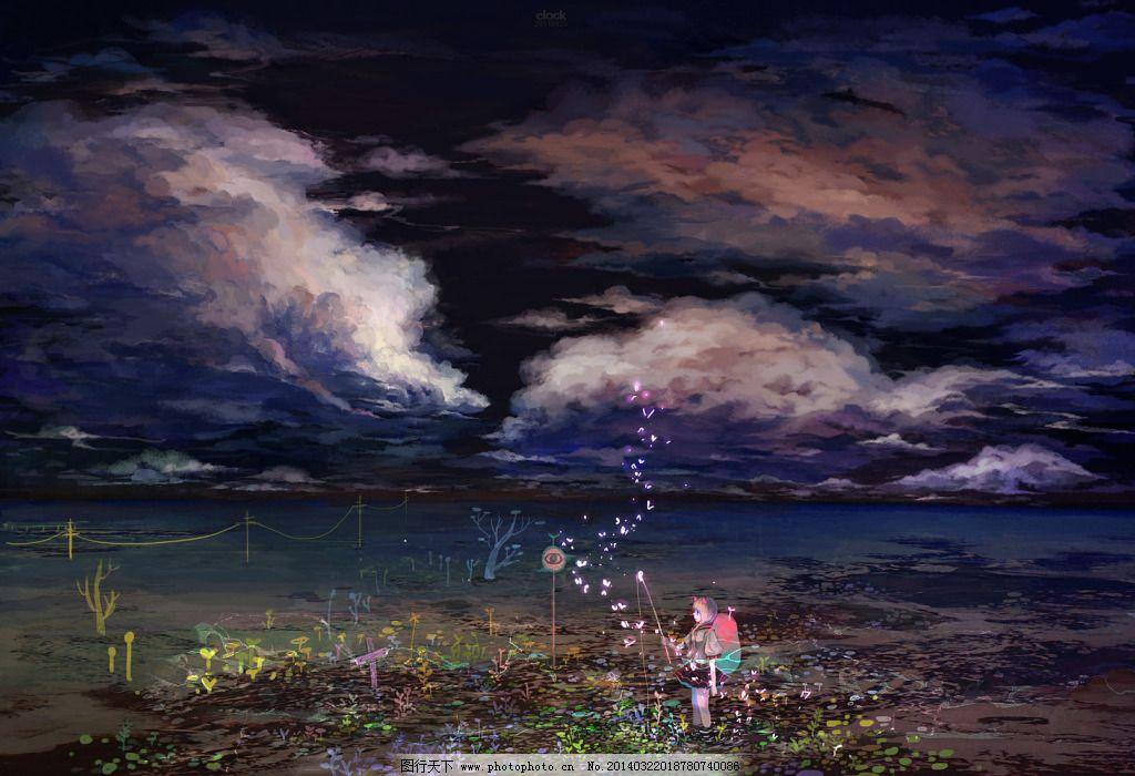 动漫 卡通 壁纸 背景 唯美 星空 夜空 漂亮 图片素材 卡通|动漫|可爱