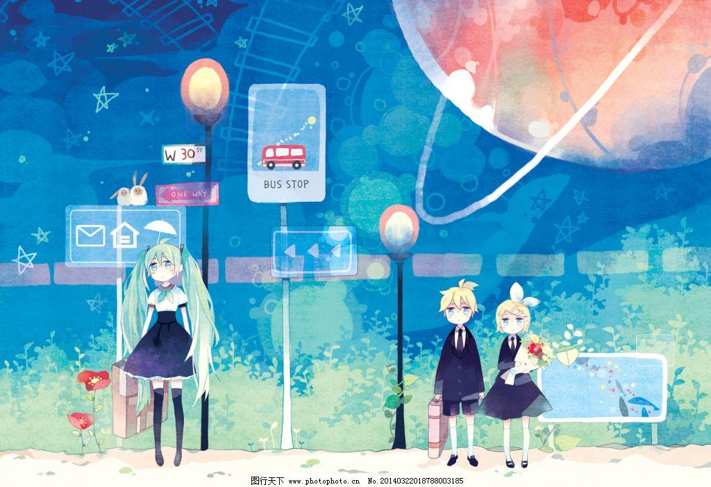 唯美 动漫 卡通 壁纸 背景 男生 女生 唯美 图片素材 卡通|动漫|可爱