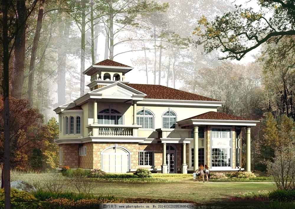 二层别墅效果图图片