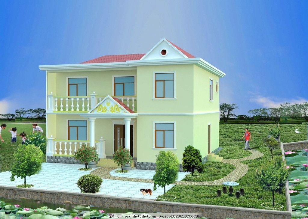 农村二层别墅图片
