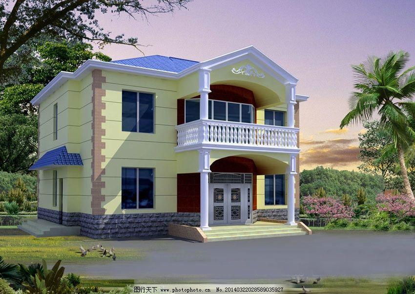 新农村二层别墅图片