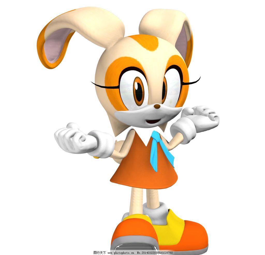 动漫素材 动漫角色 游戏角色 3d卡通角色 小兔卡通形象 其他 动漫动画