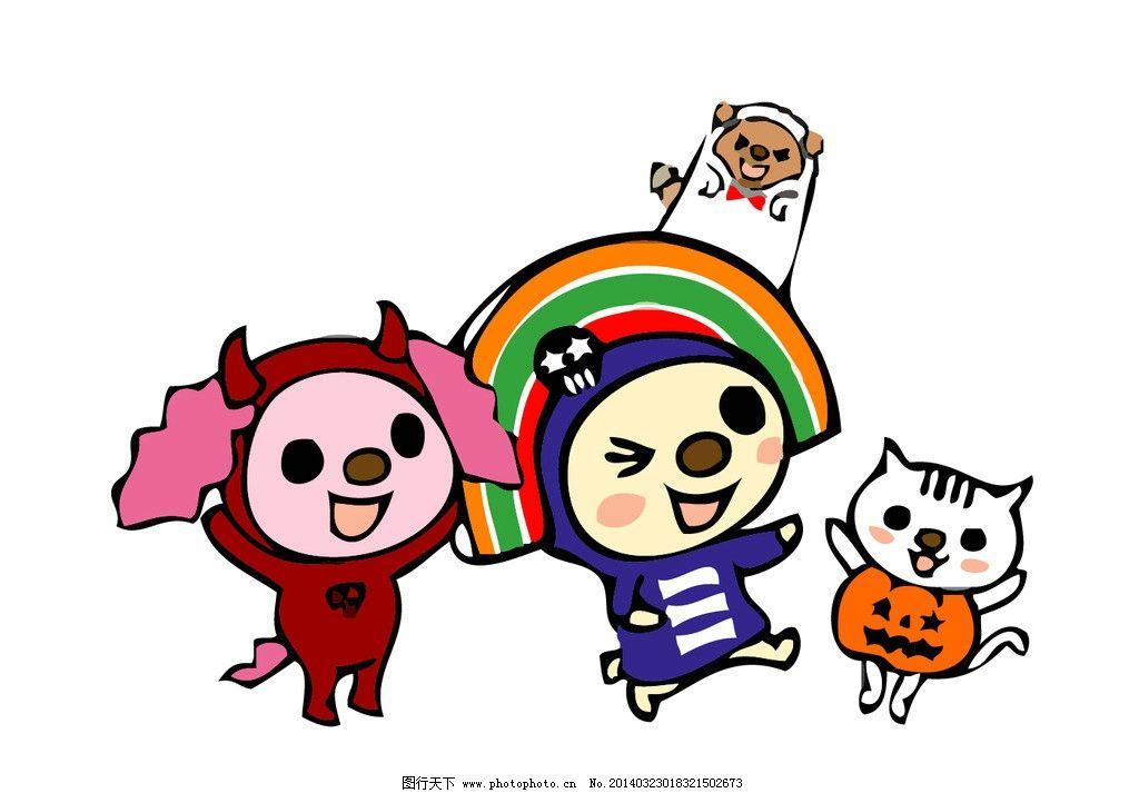 超市吉祥物 台湾 猫 狗 卡通形象 卡通设计 广告设计 矢量 ai