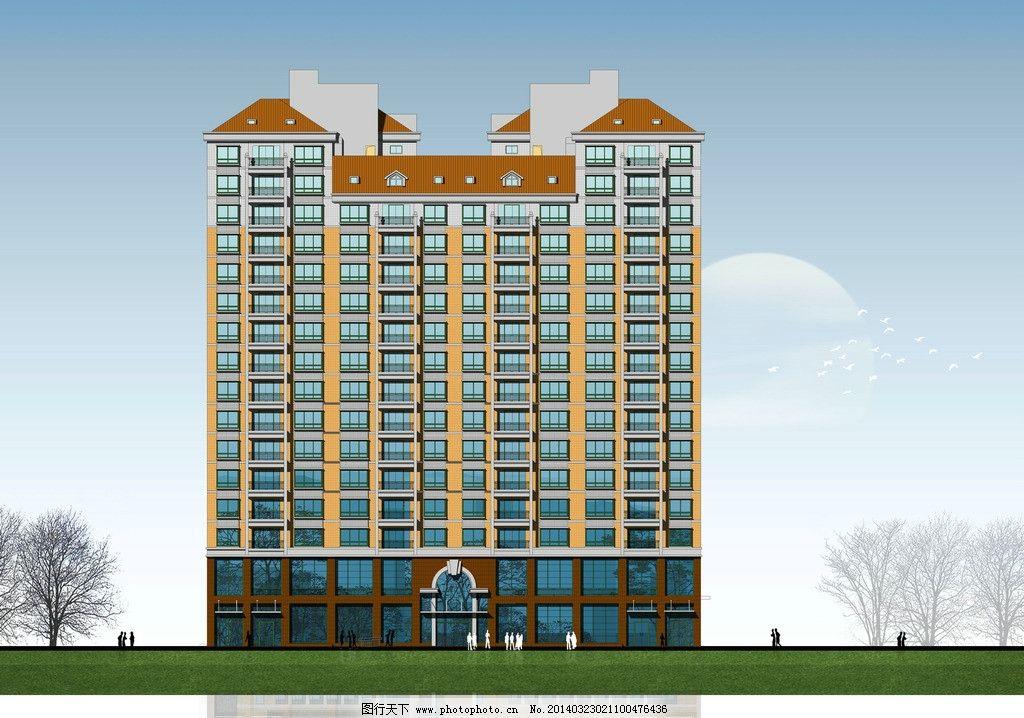 立面效果图 立面        墙体处理 建筑 住宅 3d作品 3d设计 设计 72