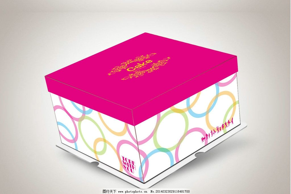蛋糕盒(平面图)图片