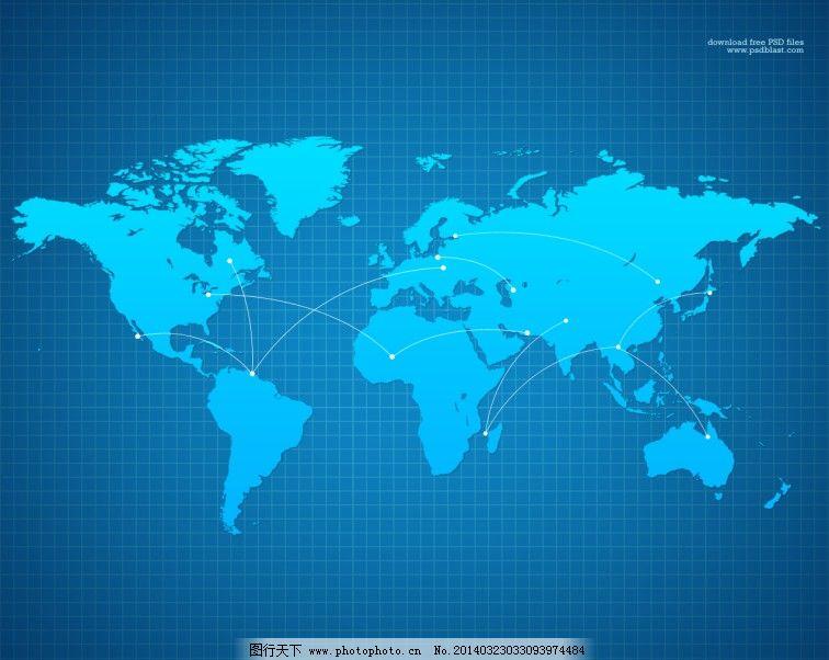 高清分辨率的世界地图背景