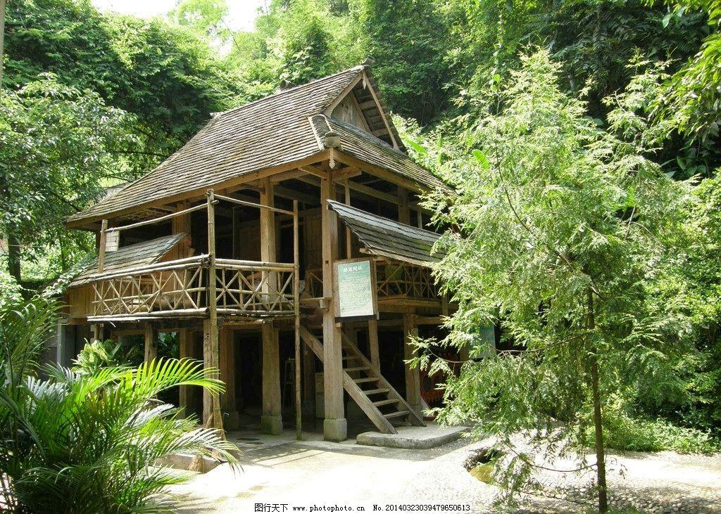 热带丛林木屋