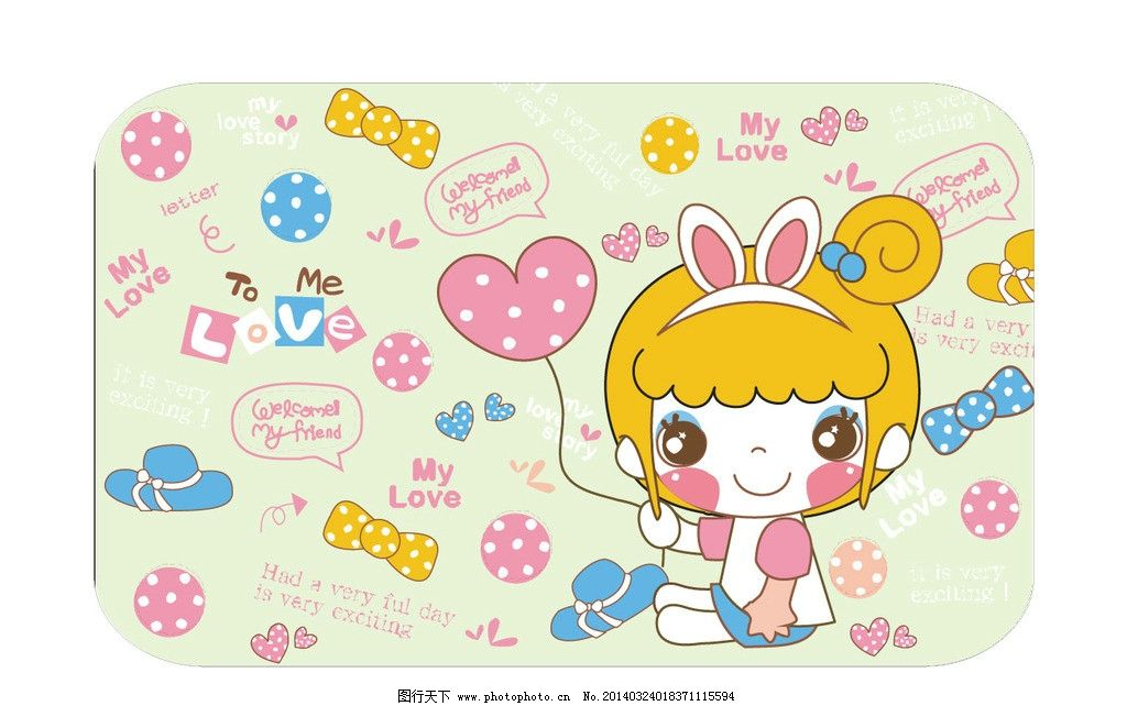 小姑娘 女孩 儿童 卡通花纹 图案设计 卡通图案 服装设计 图案 可爱