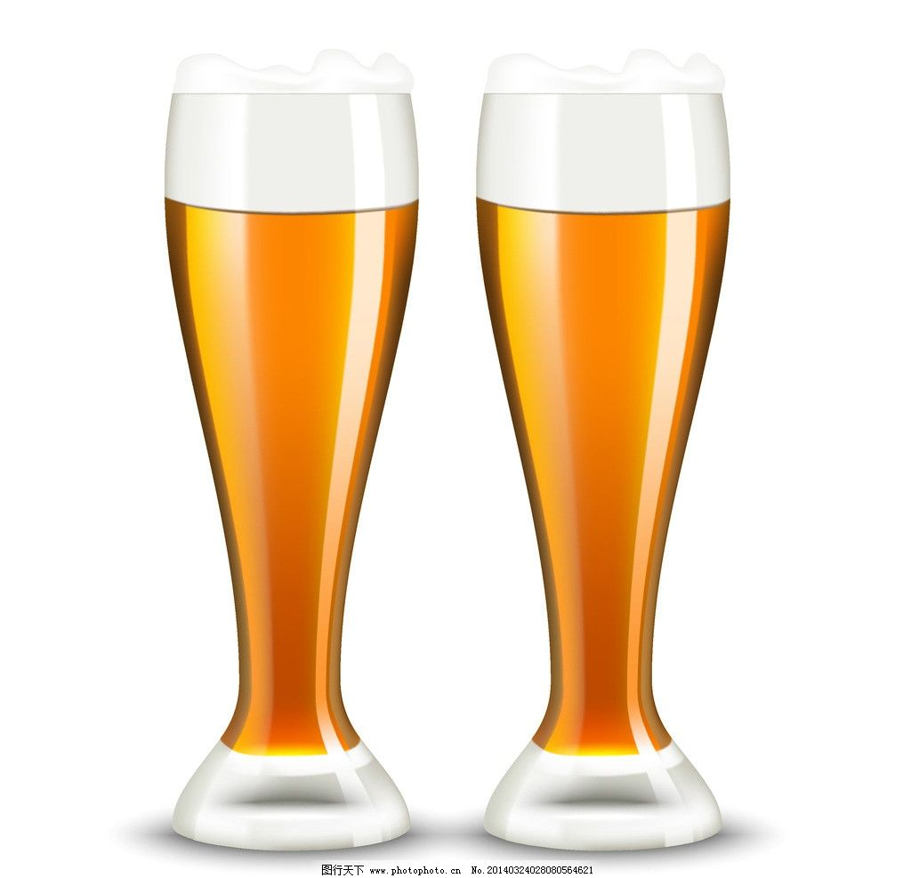 成杯啤酒简笔画