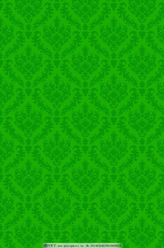 欧式绿色墙布贴图