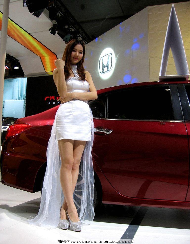 车模 美女 红色 2014海南车展 小车 新款车 车展模特摄影 职业人物