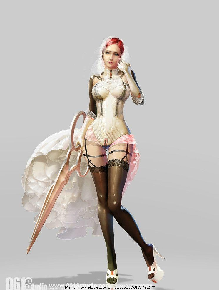 女战士 游戏 3d 美女 原画 动漫人物 动漫动画 设计 300dpi jpg