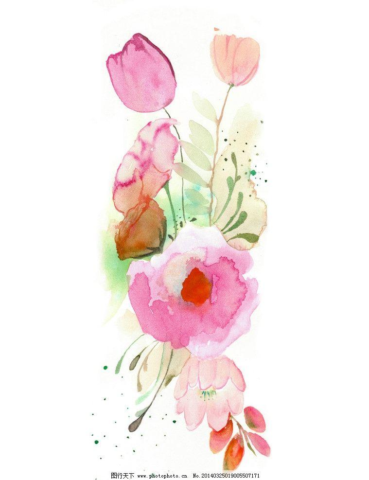 手绘水彩画 欧式手绘 高清手绘 水彩画 玫瑰花 手绘玫瑰花 鲜花 绘画