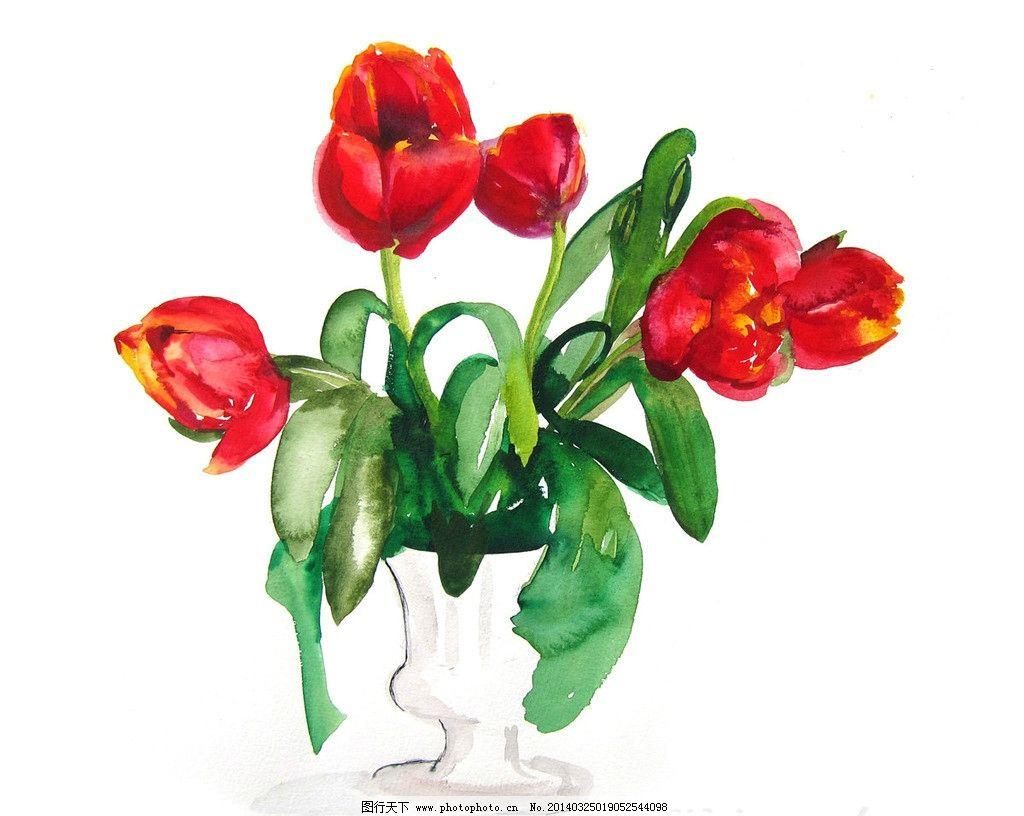 手绘水彩画 欧式手绘 高清手绘 鲜花 手绘鲜花 手绘静物 绘画书法