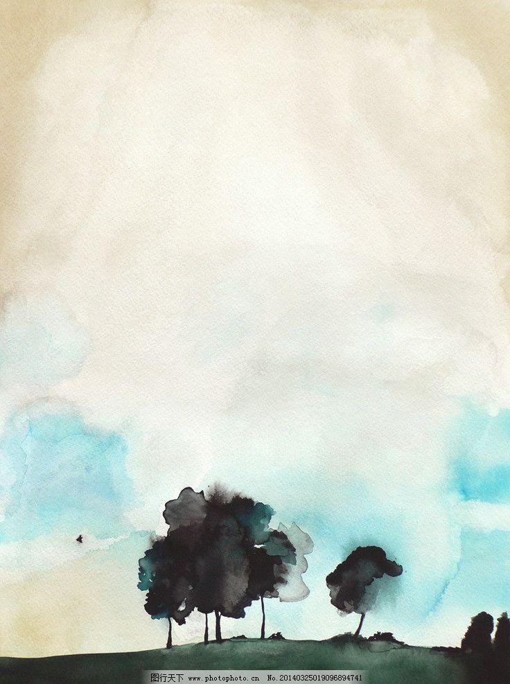 手绘水彩画图片
