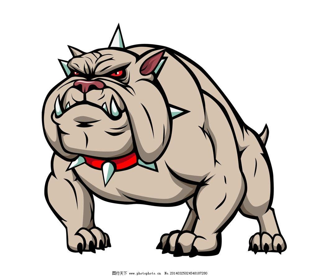 矢量狗 宠物狗 小狗 恶狗 疯狗 卡通 犬类 手绘 狗狗 哺乳动物