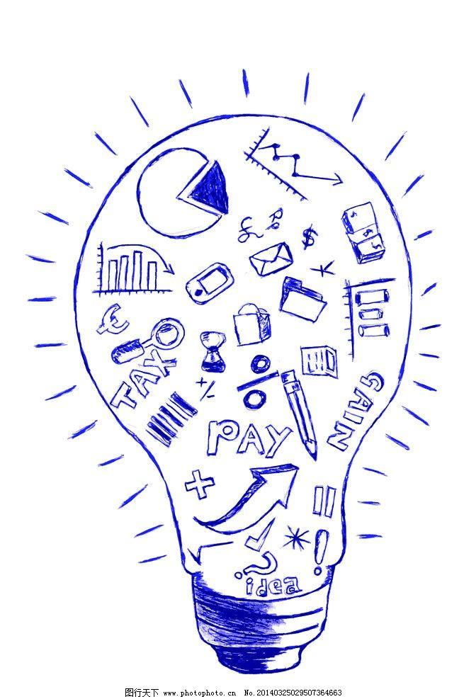 idea创意设计 手绘 信息图表 商务 商业 想法 好创意 好点子