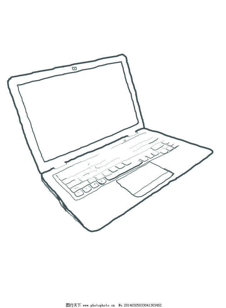 手绘 笔记本电脑图片