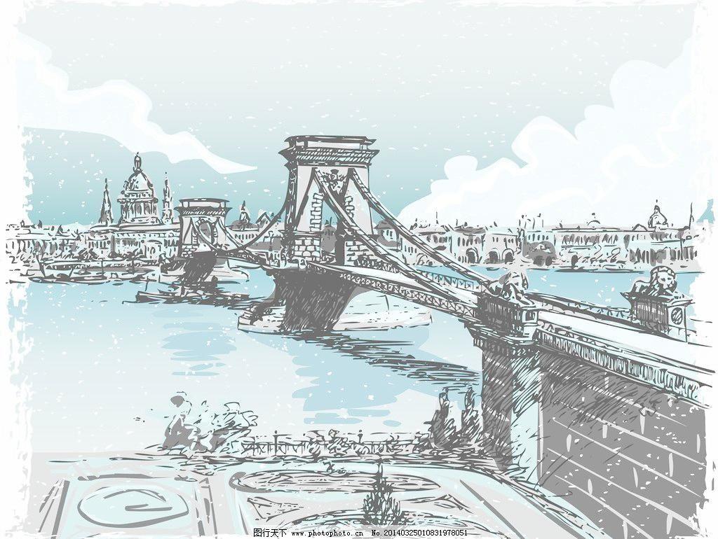 国外建筑 建筑 建筑家居 建筑园林 欧式建筑 欧洲建筑 桥梁 手绘建筑