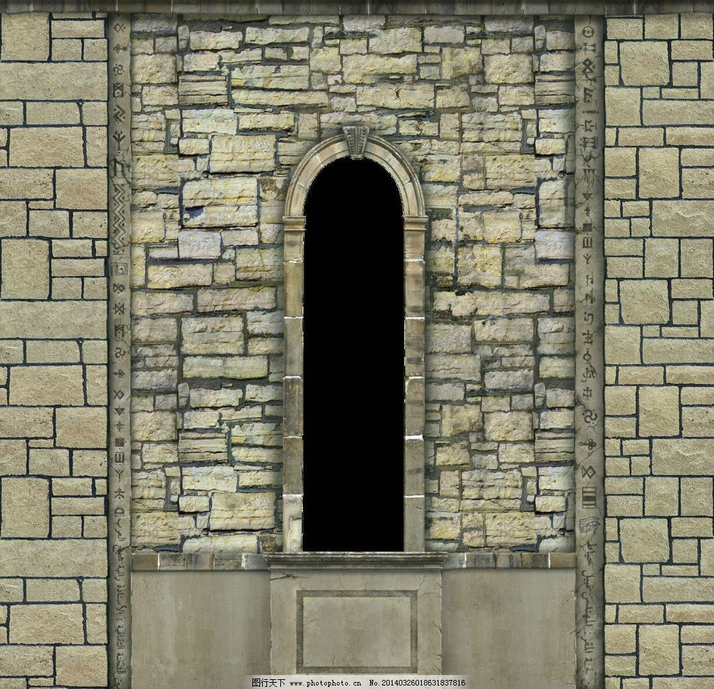 中世纪 场景贴图素材 砖墙 门 城堡 城堡贴图 西方建筑贴图 欧式古建
