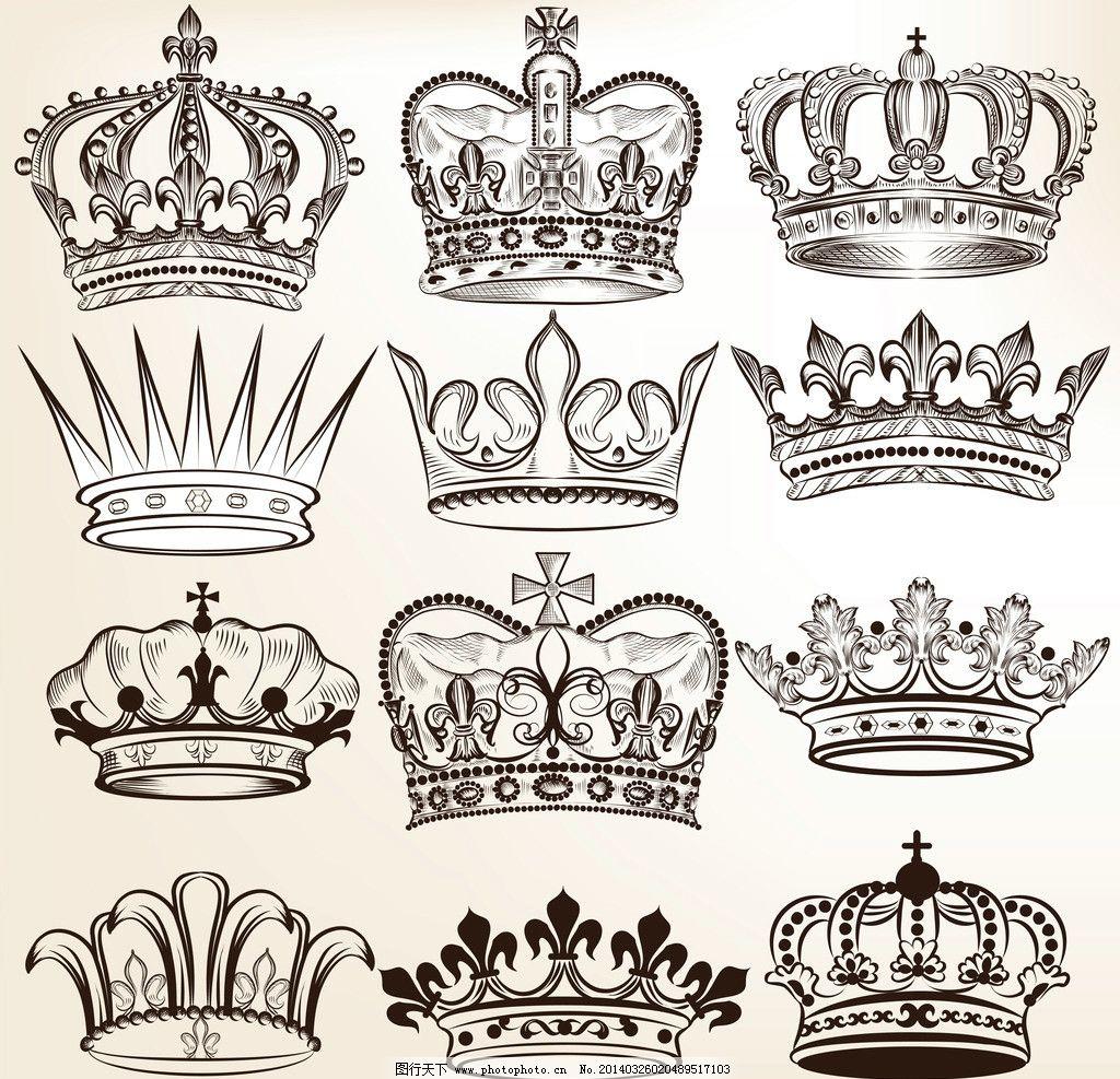 皇冠 欧式 花纹 欧式花纹 标签 欧式花纹背景 王冠 花纹花卉 手绘