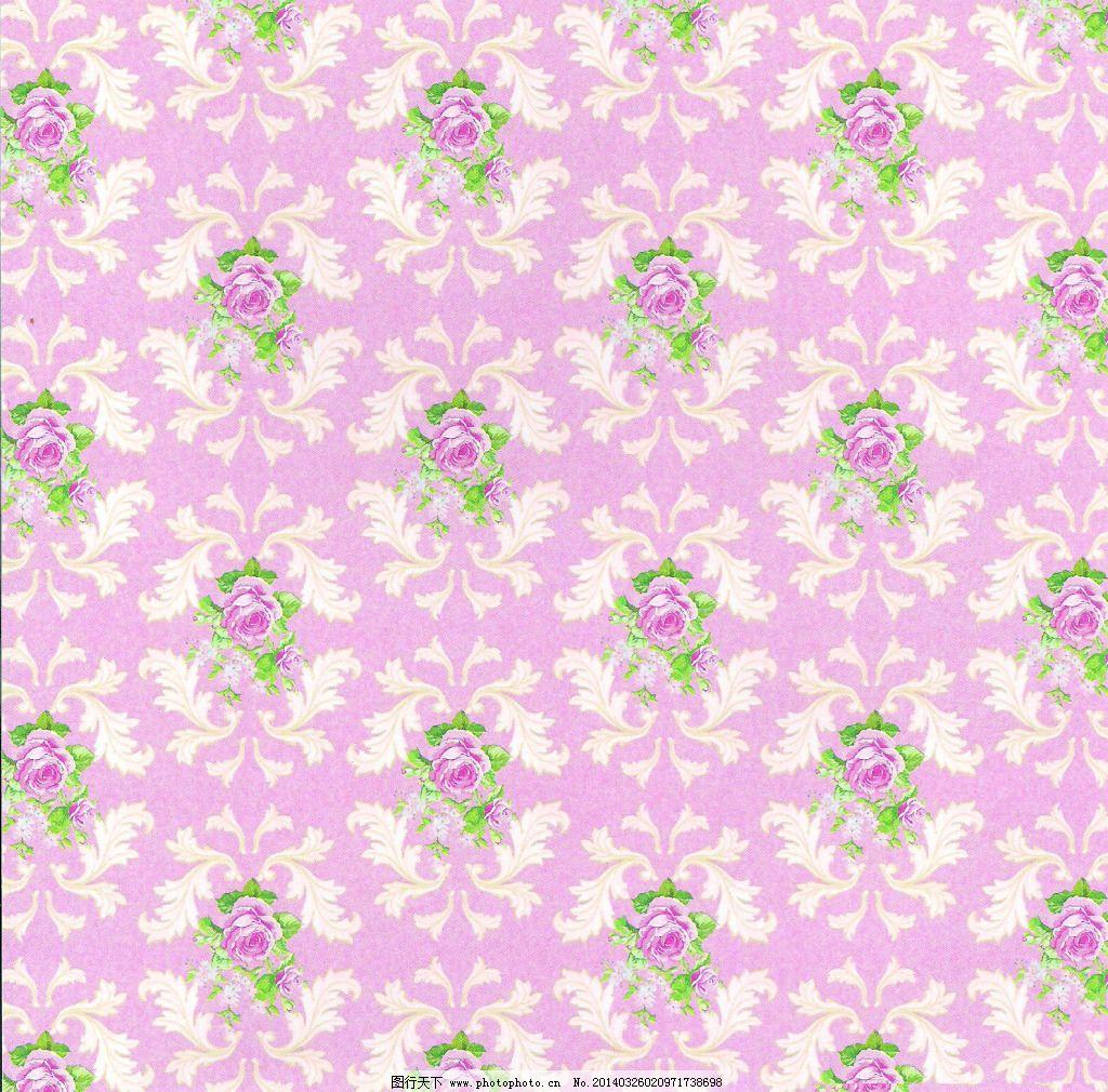 粉色欧式壁纸材质贴图