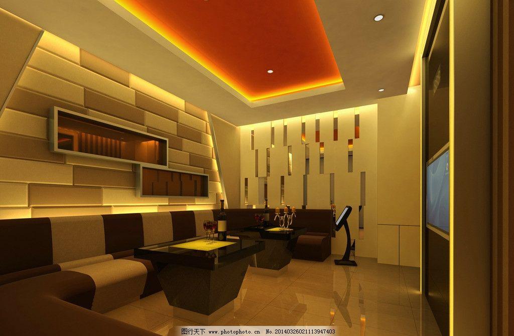 ktv包间 包间 3d效果图 3d设计图 vip 室内装修 室内设计     酒店 3d