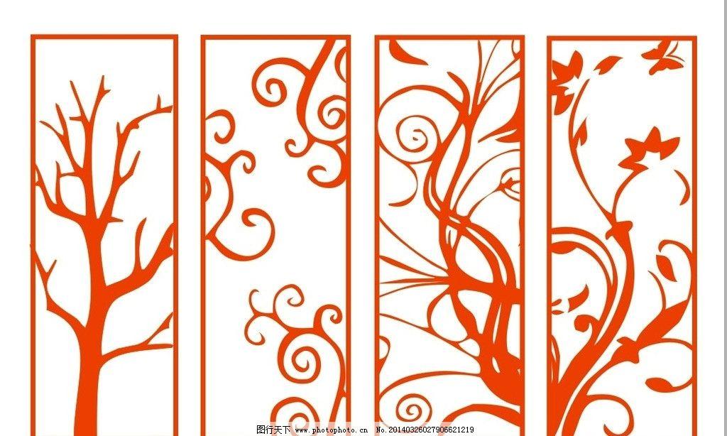 雕刻雕花 雕刻 雕花 树形雕花 装饰雕刻 墙贴 手绘图 室内设计 建筑