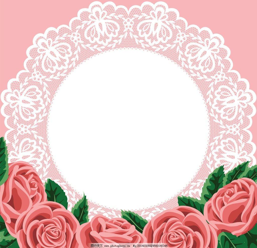 结婚卡 婚礼卡 手绘 玫瑰花 红玫瑰 手绘花卉 美丽花卉 文本框 简约