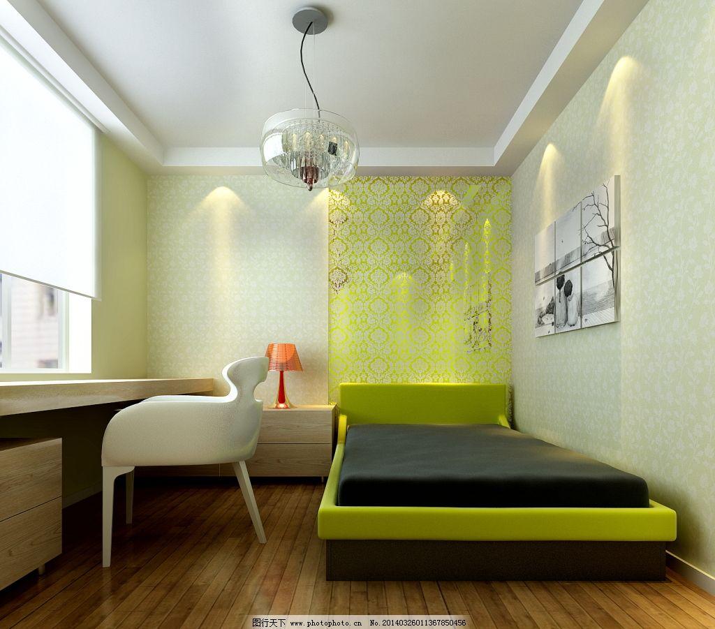 儿童卧室效果图_室内设计_装饰素材_图行天下图库