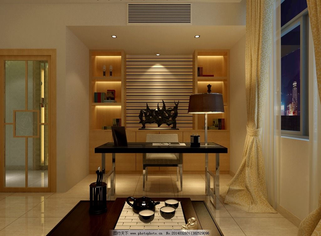 茶室效果图,客厅装修 室内设计 室内设计素材 室内图