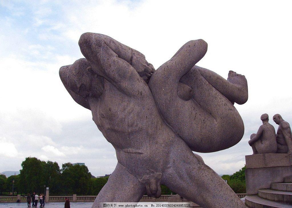 挪威维格兰雕塑公园图片