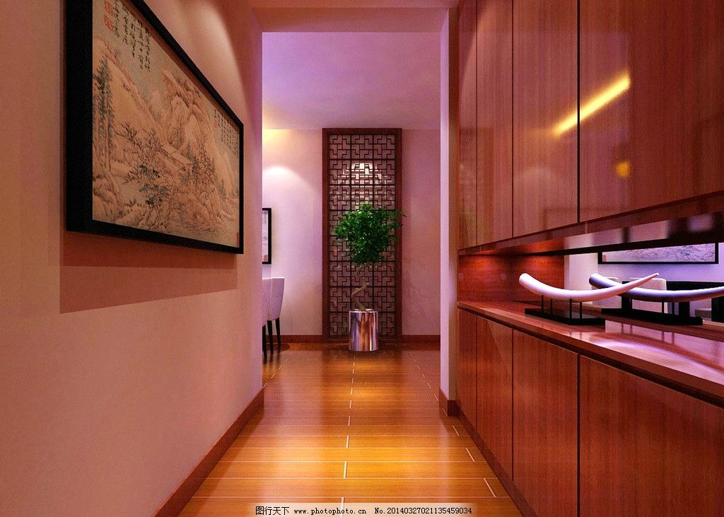 中式家装效果图图片