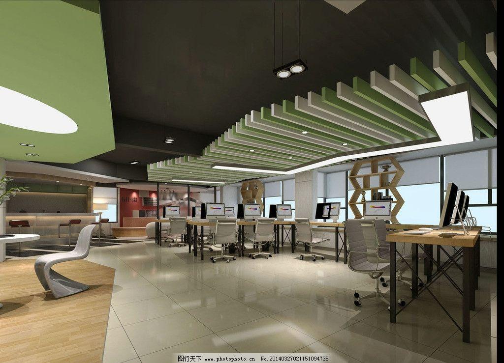 写字楼办公室 办公室 酒店包间        3d设计 室内设计 vip 开敞办公