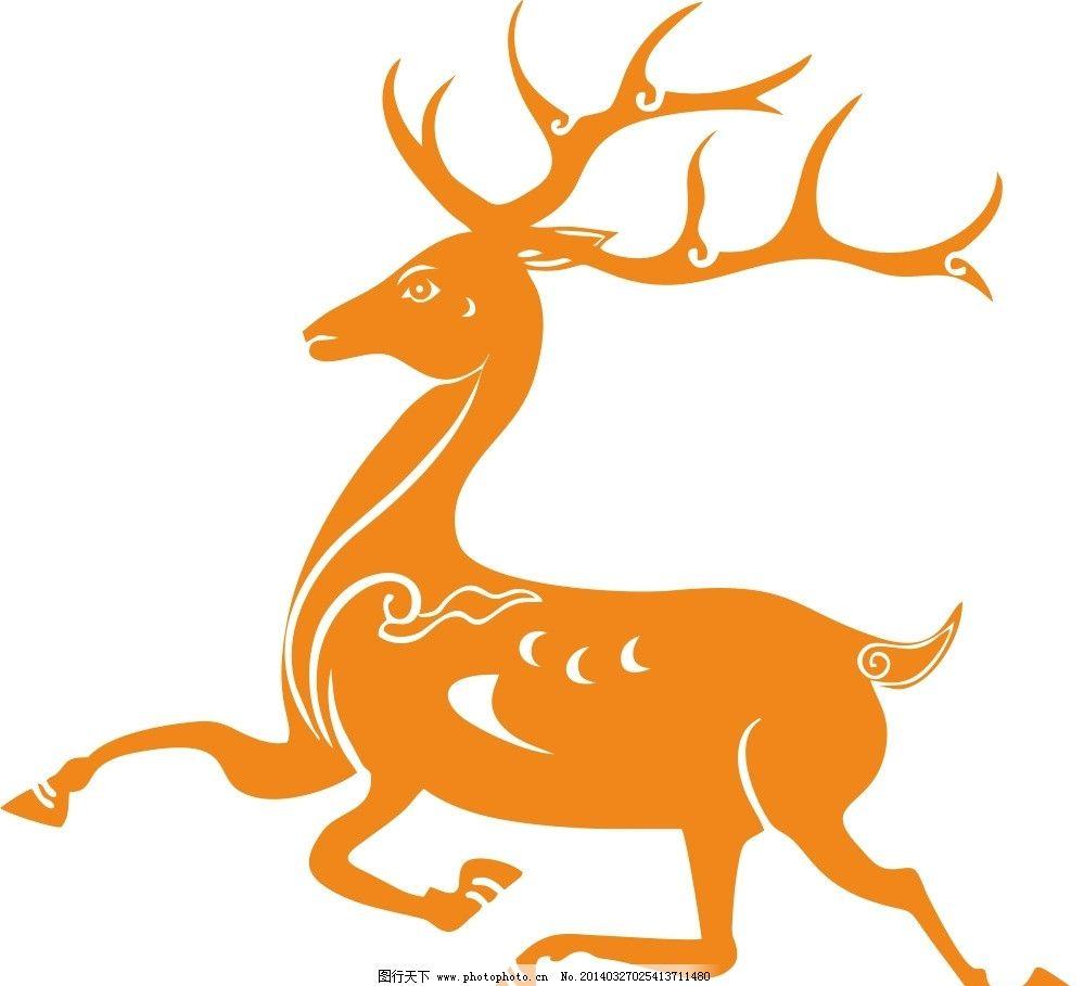 鹿矢量硅藻泥贴图