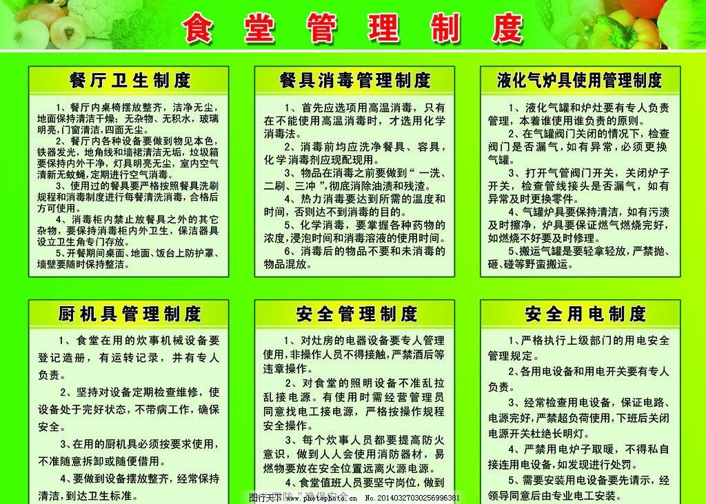 食堂管理制度 食堂 管理制度 医院 水果 蔬菜 餐具管理制度 厨具管理