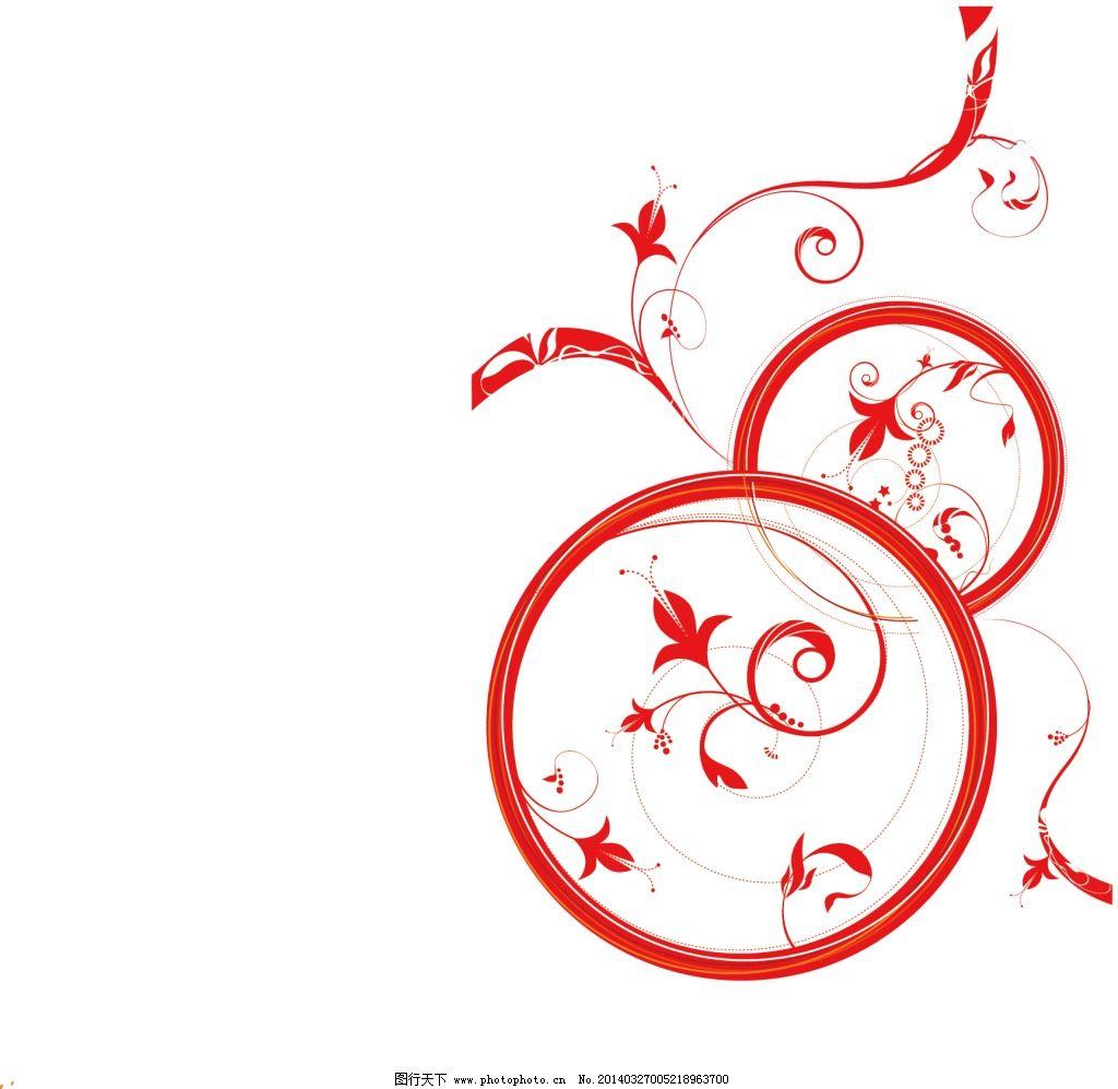 红色丰富花纹免费下载 红色 花纹 花纹 红色 葫芦形 矢量图 花纹花边
