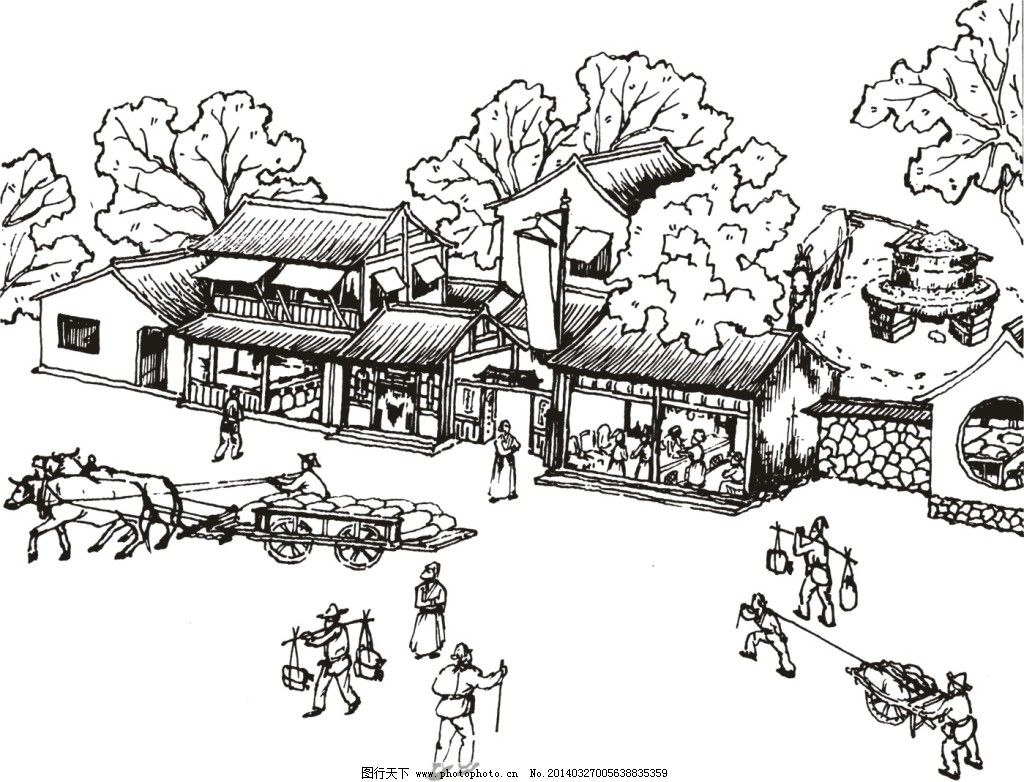 古代建筑简笔画_古代建筑图片简笔画