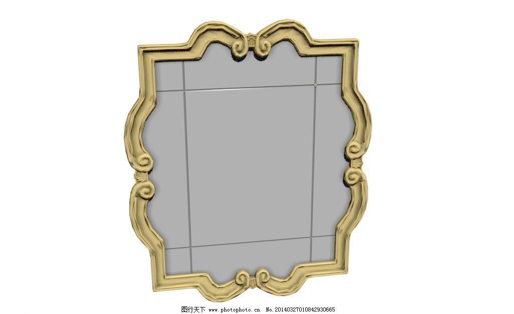 艺术品 艺术品模型 软装 软装模型 欧式镜子 欧式镜框 欧式线脚 效果图片