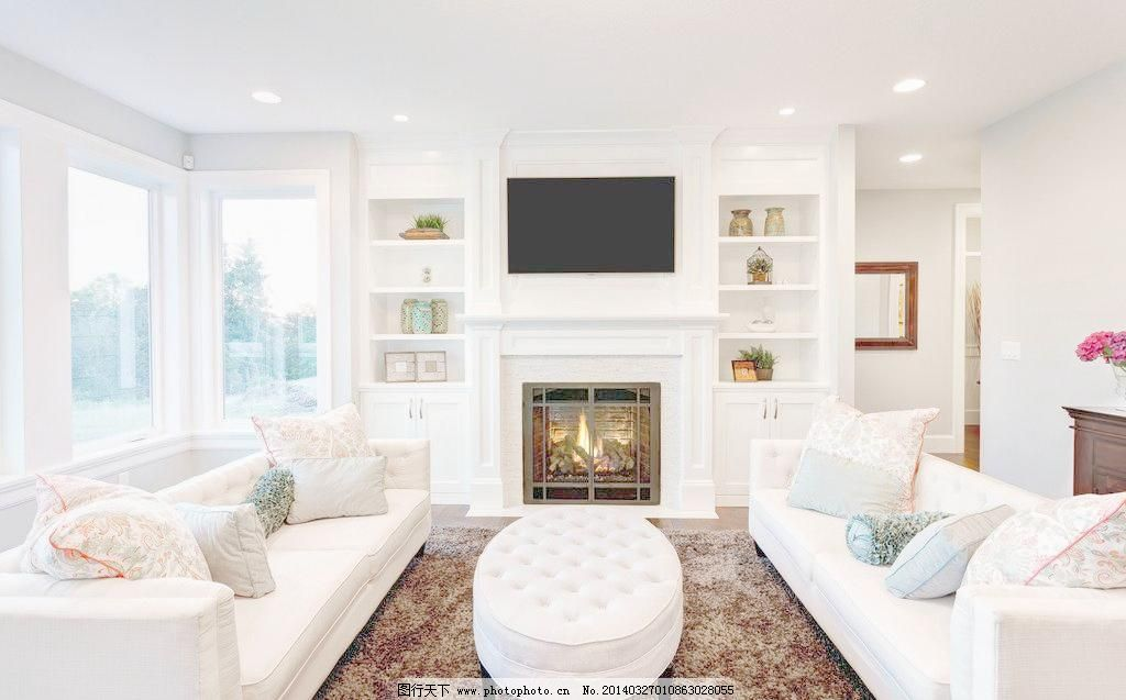 客厅 别墅 茶几 豪华 家居 家具 建筑园林 欧式 客厅图片素材下载