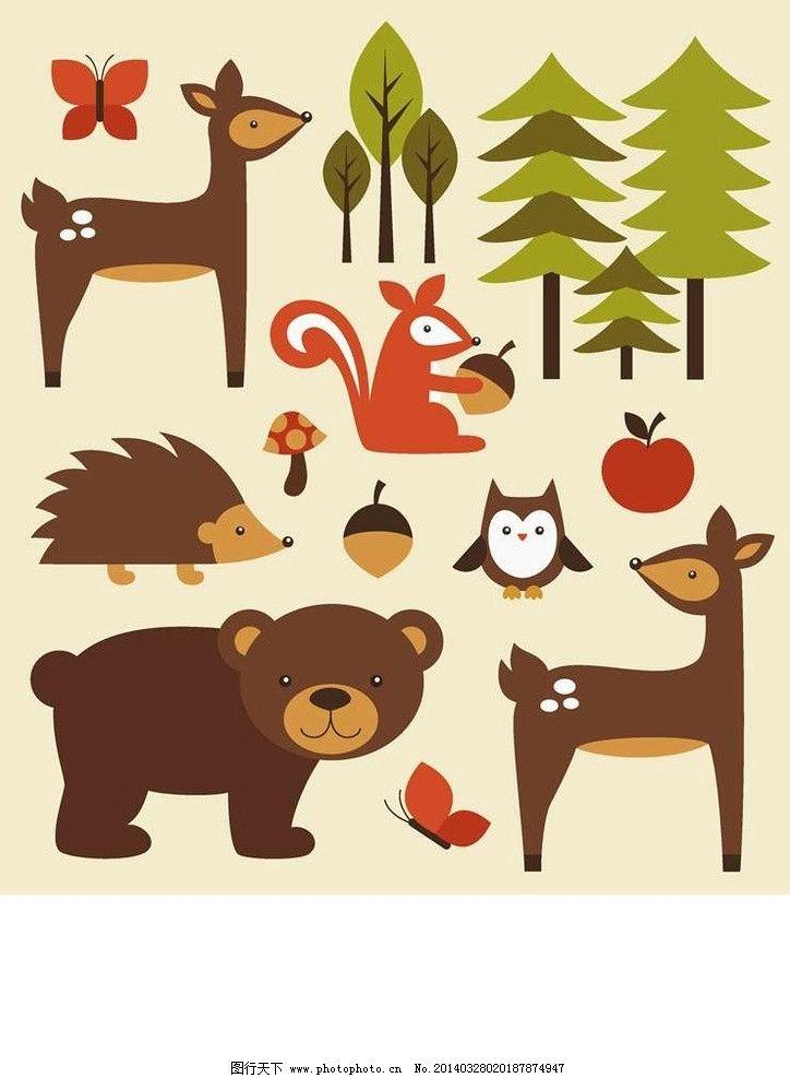 卡通动物设计动画动物图片