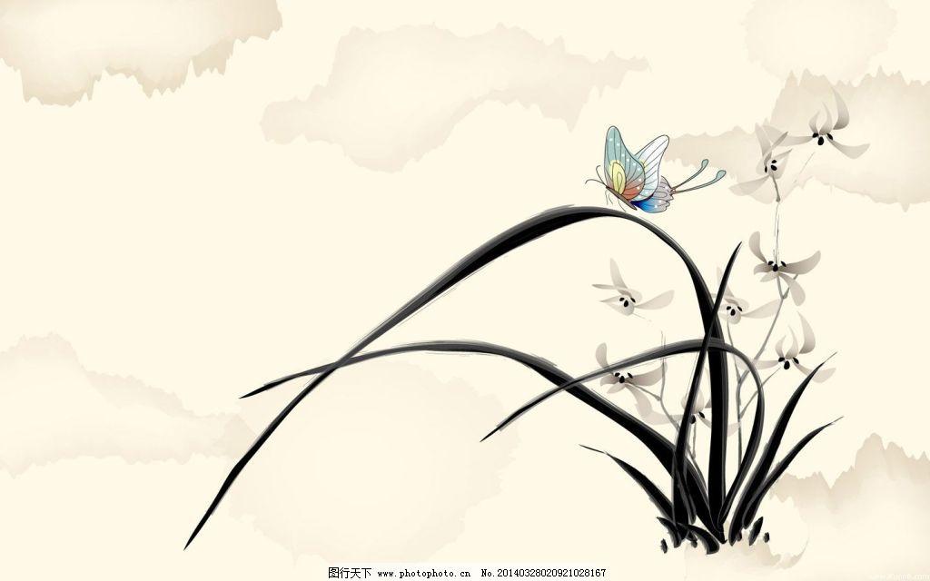 壁纸设计 个性 花朵 兰花 平面 兰花 壁纸设计 平面 花朵 个性 cg插画