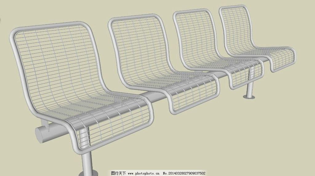 公共座椅 3d舞台效果图 室内场景设计 展会效果图设计 3d室内设计