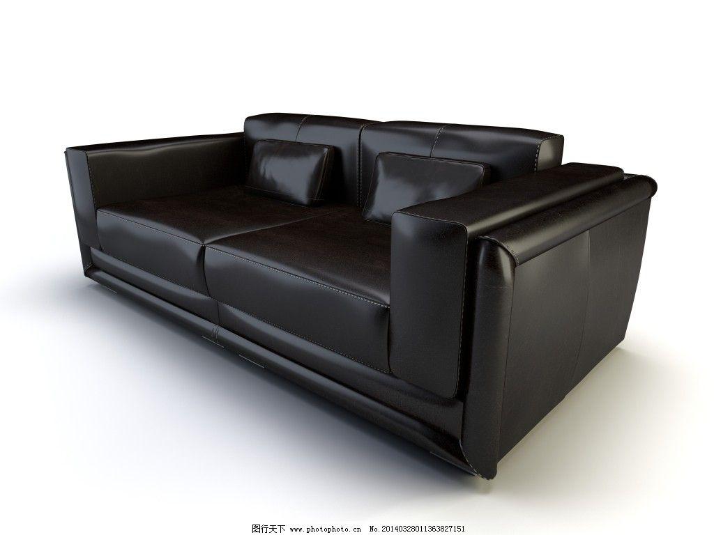黑色 沙发 真皮沙发 黑色 真皮沙发 沙发 家居装饰素材 室内设计