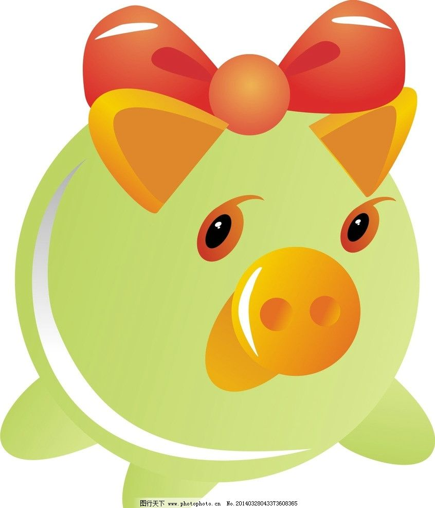 存钱罐 猪 绿色 猪猪存钱罐 可爱 卡通设计 广告设计 矢量 cdr