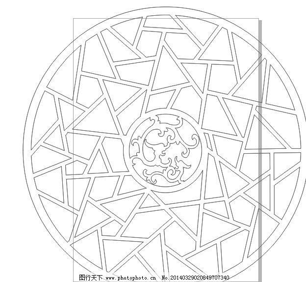 招财进宝 镂空雕刻 矢量图 古典宫灯 其他 底纹边框 矢量 cdr