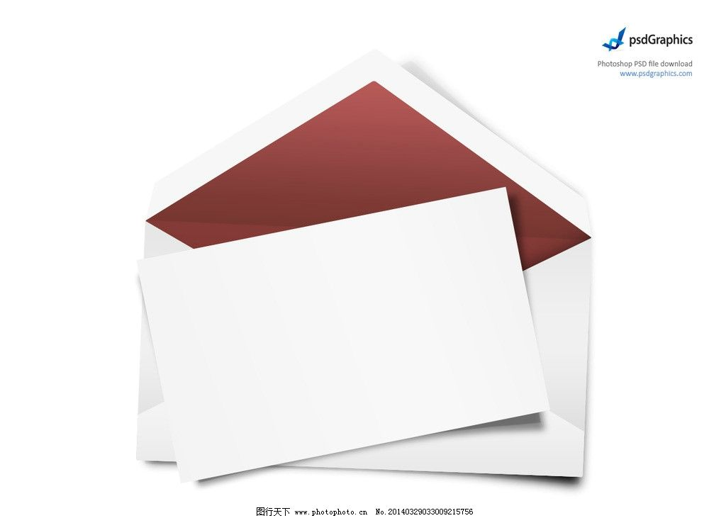 空白信封 木制 相框 模板