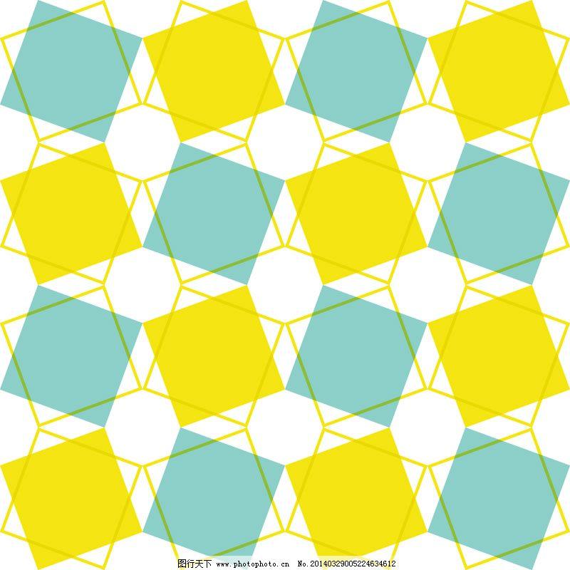 清新彩色方形背景矢量素材
