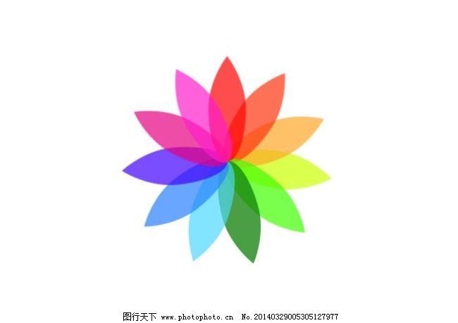 花瓣彩色标志_广告设计_矢量图_图行天下图库