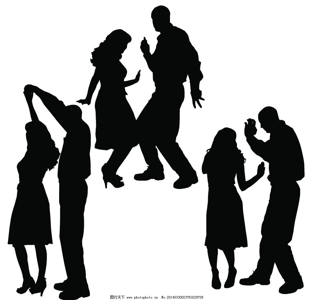 舞蹈 人群剪影 影子 人影 阴影 男人影子 女人影子 人物形象 跳舞人物